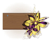 Wooden framework with flowers Stock Photos