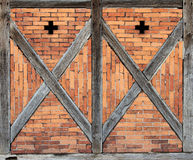 Wooden framework front. Detail of an old wooden framework front Royalty Free Stock Photography