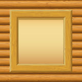 Wooden Framework with Paper on a Wall Royalty Free Stock Image