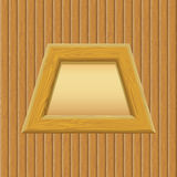 Wooden Framework with Paper on a Wall Royalty Free Stock Photo