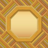 Wooden Framework with Paper on a Wall Stock Images