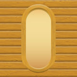 Wooden Framework with Paper on a Wall Royalty Free Stock Photos