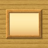 Wooden framework on a wall Royalty Free Stock Photography