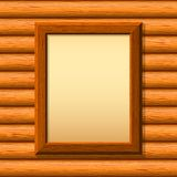 Wooden framework on a wall Royalty Free Stock Image