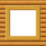 Wooden Framework on a Wall Stock Photo