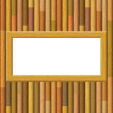 Wooden Framework on a Wall Royalty Free Stock Images