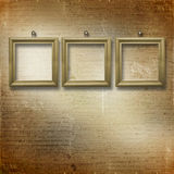 Wooden frameworks for portraiture Royalty Free Stock Photography