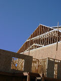 Wooden framing. A great example of construction in progress on this block of new condos Royalty Free Stock Photos