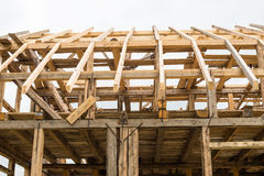 Wooden framing of the new house Royalty Free Stock Photo