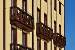 Wooden French balconies Stock Photography