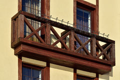 Wooden French balcony Royalty Free Stock Photography