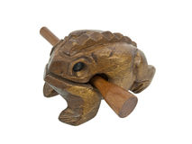 Wooden frog Royalty Free Stock Photos