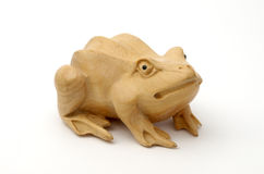 Wooden frog Stock Image