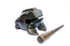 Wooden frog. Handmade, Asian souvenir Stock Photography