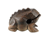 Wooden frog isolated on white Stock Photography
