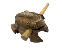 Wooden frog talisman Stock Photos