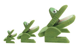 Wooden Frogs Royalty Free Stock Image