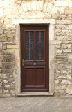 A wooden front door Stock Photo