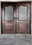 Wooden front door Stock Images