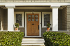 Wooden Front Door Royalty Free Stock Image
