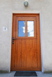 Wooden front door Royalty Free Stock Images
