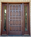 Wooden Front Door Stock Photo