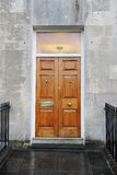 Wooden Front Door. Of a Georgian Era Town House royalty free stock photo