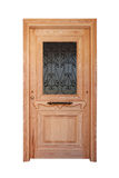 Wooden front door with glazing Stock Photography