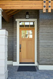 Wooden Front Door of a Home royalty free stock photos