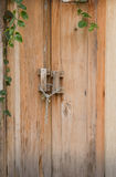 Wooden front door Royalty Free Stock Photos