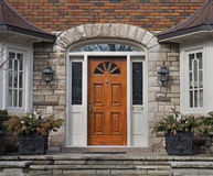 Wooden front door Stock Photos