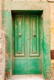 Wooden front door to the house Stock Image