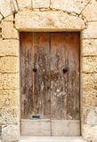 Wooden front door to the house Royalty Free Stock Image