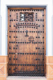 Wooden front door Royalty Free Stock Photo