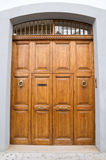 Wooden frontdoor. Royalty Free Stock Photography