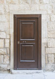 Wooden frontdoor. Stock Image