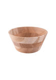 Wooden fruit bowl Stock Image