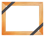 Wooden funeral frame Royalty Free Stock Photography