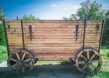 64-Wooden furgon zdjęcia royalty free