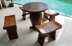 Wooden furniture Royalty Free Stock Photography