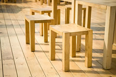 Wooden furniture Stock Images