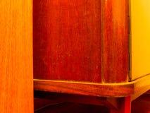 Wooden furniture detail. Royalty Free Stock Photos