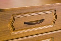 Wooden furniture drawer Royalty Free Stock Image