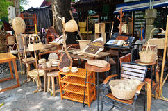 Wooden furniture outside their shop Stock Image