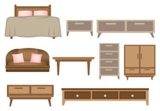 Wooden Furniture Vector Illustration Royalty Free Stock Photo