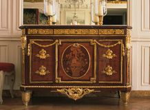 Wooden furniture at Versailles Palace Royalty Free Stock Photo