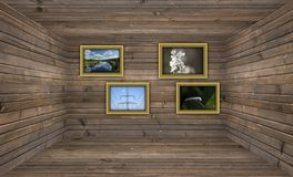 Wooden Gallery Royalty Free Stock Images