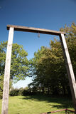 Wooden Gallows, Auschwitz Stock Image