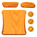 Wooden game assets Royalty Free Stock Photo