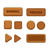 Wooden game buttons Stock Photo